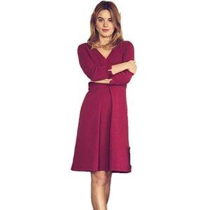 Boden Mercer Mulberry Textured Dress